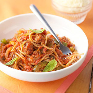 Spaghetti with Meat Loaf Sauce