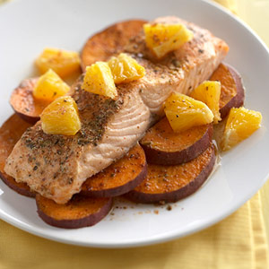 Southwest salmon and sweet potatoes diabetic living online for Fish oil and diabetes