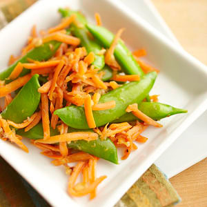 Pea Pod and Carrot Stir-Fry | Diabetic Living Online
