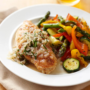 Sauteed Chicken Breasts with Simple Chive Sauce