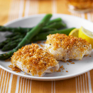 Lemon and parmesan fish diabetic living online for Diabetic fish recipes