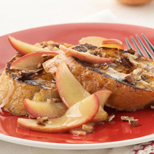 Maple-Apple Drenched French Toast