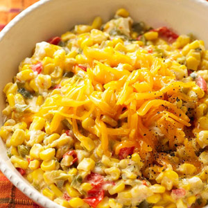 Cheesey Sweet Peppers and Corn