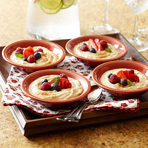 Cinnamon Custard with Berries