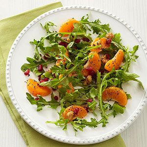 Clementine-Arugula Salad with Lime-Poppy Seed Dressing