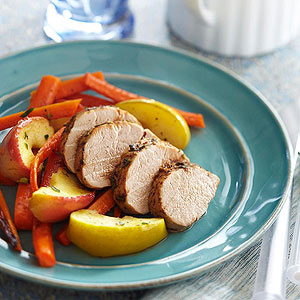 Roasted Pork Tenderloin with Apples and Carrots | Diabetic Living ...