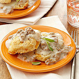 Cheddar Biscuits and Country Sausage Gravy | Diabetic Living Online