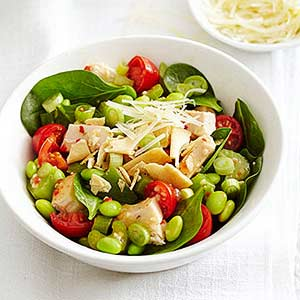 Sauteed Chicken and Edamame Salad