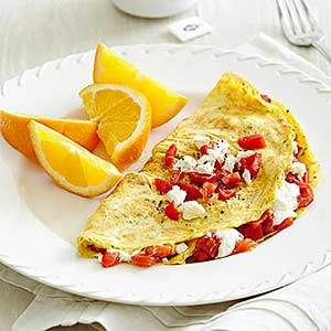 Red Pepper Omelet