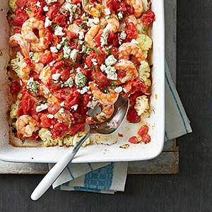 Shrimp and Cauliflower Bake (see editorial note for pickup)