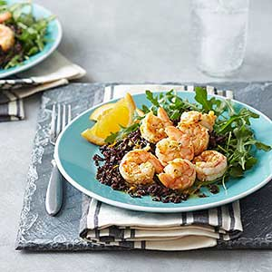 Citrus Shrimp with Black Rice