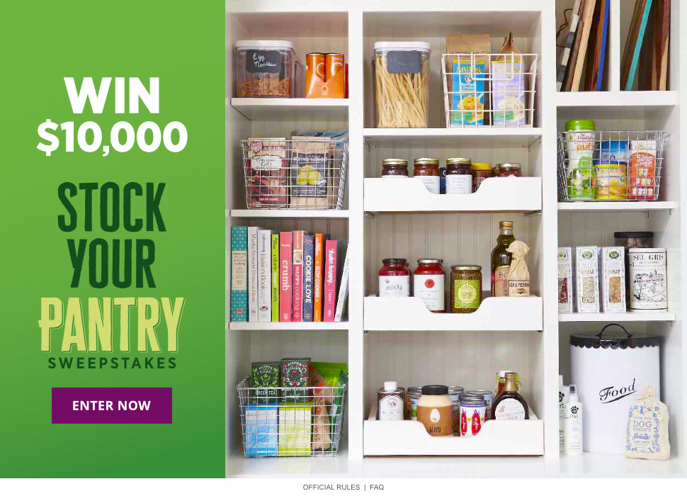 Stock Your Pantry $10,000 Sweepstakes
