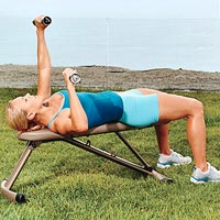 Alternating Dumbbell Bench Press A