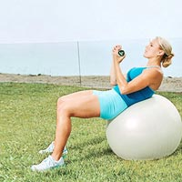 Stability Ball Crunch A