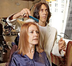 Sharon Pizutiello Getting Haircut