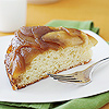 Caramelized apple pie cake slice