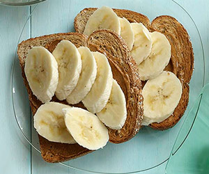 wheat bread and banana