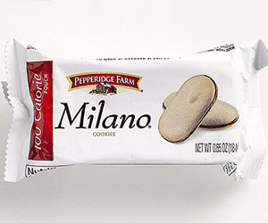 Package of Pepperidge farm Milano cookies