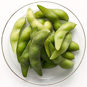 Bowl of edamame