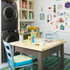 Organize your laundry room to create spaces for storage, work and play.