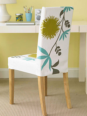 Use iron-ons to make bold patterns on chairs.