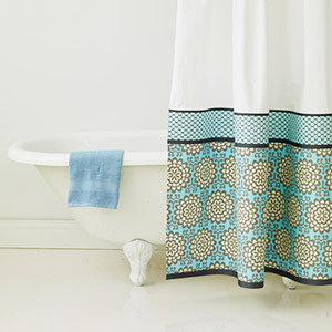 Iron-ons can brighten up fabric curtains.
