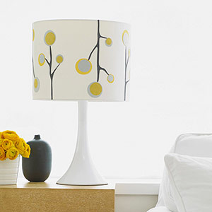 Use iron-ons to decorate lampshades.