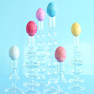 Shimmery Easter eggs