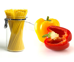 Spaghetti and peppers