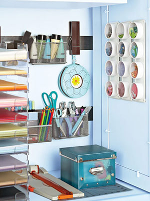 Organized craft supplies