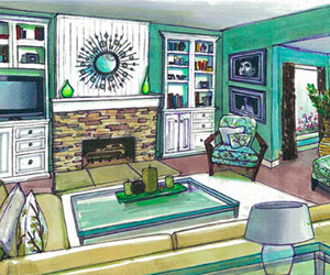 family room plan