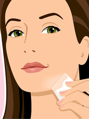 apply tinted moisturizer with a make-up sponge