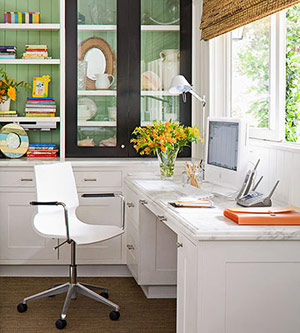 bright and sunny desk