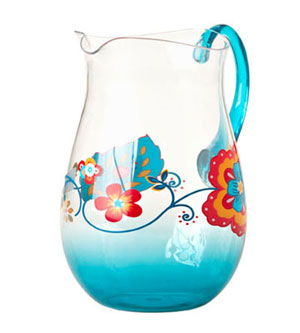 ESSENTIAL HOME FLORAL BOHEMIAN GARDEN PITCHER