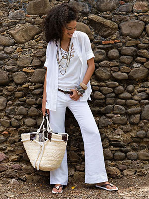 white summer fashion