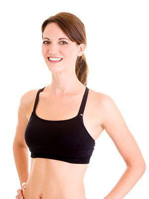 Woman in sports bra