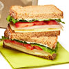 Turkey and whole wheat sandwich