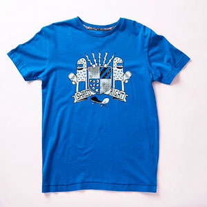 back-to-school colorful fashion - blue t-shirt