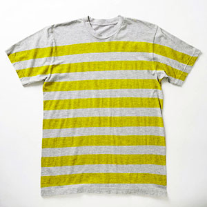 back-to-school colorful fashion - striped yellow and gray t-shirt