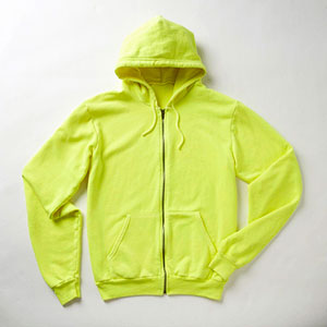 back-to-school colorful fashion - yellow hoodie