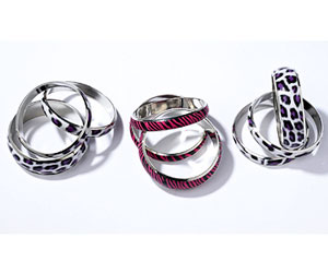 rock and roll back-to-school fashion - animal-print rings
