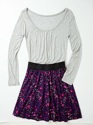 back-to-school boho fashion -  skirt and shirt