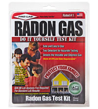 Pro-Lab?s Radon Gas Test Kit