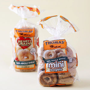 Whole wheat mini bagels