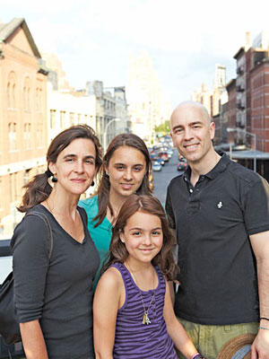 The Tracy family: Liz; J.R.; Willa, 15; and Matilda, 11