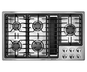 Jennair gas downdraft cooktop