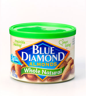 Blue Diamond Whole Natural Almonds, Unsalted, No Oil