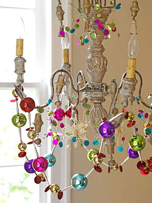 Decorated chandelier