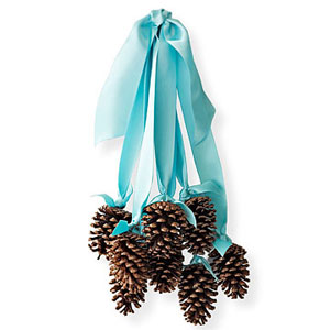 Countdown to christmas 25 holiday food and decorating for Pine cone door decoration