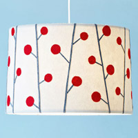 Decorated lamp shade